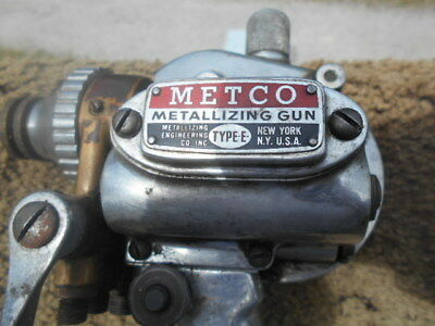 METCO METALLIZING GUN TYPE E -as is see pictures-bought at estate sale