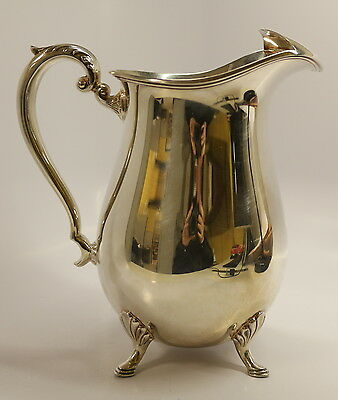 Vintage Crescent Silverplate Footed Pitcher #1