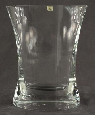 Studio Art Glass POLAND Lead Crystal Weighted Base Marquis Shape Flower Vase