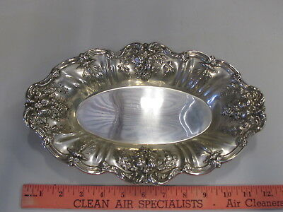REED & BARTON sterling silver 925 FRANCIS 1 ORNATE Oval Bread Tray X568 I Pretty