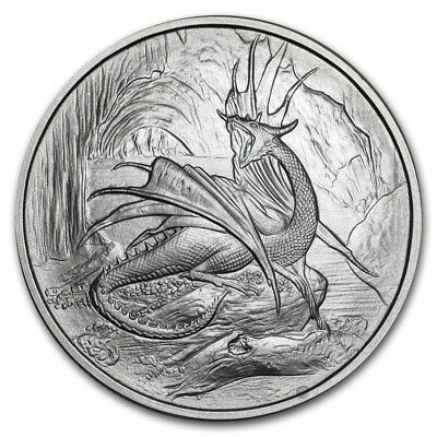1 Oz .999 Silver Coin Nidhoggr Dragon Nordic Creature Series 1St In Series #cert