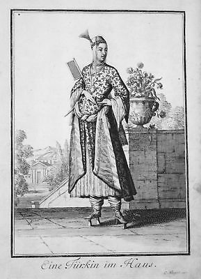 1703 Türkei Turkey Trachten costumes Kupferstich antique print Sancta Clara