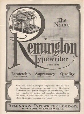 1905 Remington Typewriter Word Processor Author Office 9660