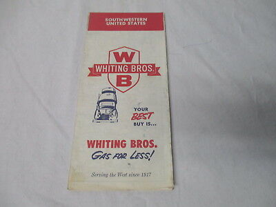 Vintage Whiting Bros. oil gas company road map