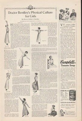 1910 Dr Lillian Bentley Girls Physical Culture Fitness Exercise Ad14280