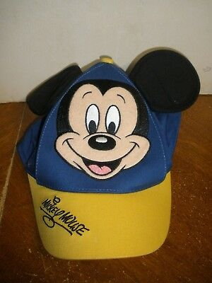 Walt Disney World Parks Toddler Kids Mickey Mouse Hat Baseball Cap with Ears Blu