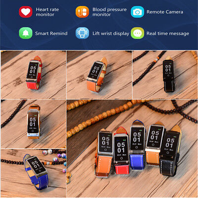 Y2 Waterproof Smart Bluetooth Wristband Watch Heart Rate Blood Pressure Monitor