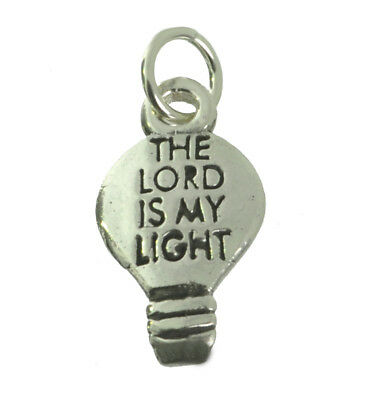 WOW The Lord is my light salvation Sterling Silver 925 Bulb Charm strength of li