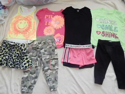 Girl's 8 Piece Lot Mix/Match 4 Complete Outfits Size 7/8 by JUSTICE-SO-CHEROKEE