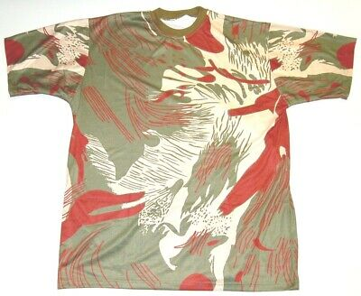 RHODESIAN BUSH CAMO T-SHIRT -  X-LARGE / 50 Inch Chest