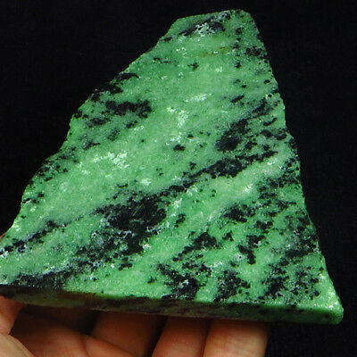 825.85CT 100% Natural Red Green Bi Color Ruby In Zoisite Rough Specimen YGB25