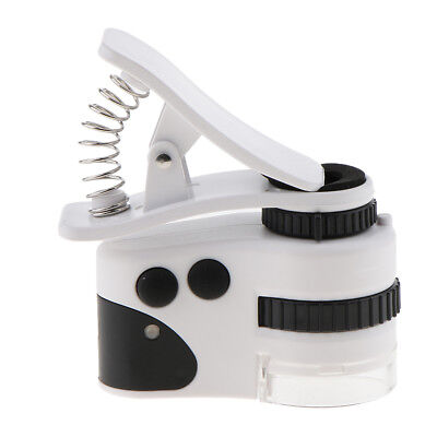 Microscope Magnifier with LED/UV Lights for Universal Mobile Phone Clip Style