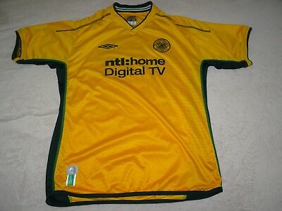 Celtic Football Shirt Away 3Rd 2002/04 Size L Large 41/43 Adult Vvgc