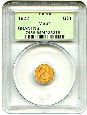 1922 Grant without Star G$1 PCGS MS64 (OGH) Old Green Label Holder