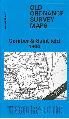 Old Ordnance Survey Map Comber Saintfield 1900 Belfast Newtownards Dundonald