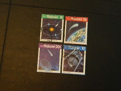 Malawi Stamps SG 742/5 set of 4 issued 1986 Appearance of Halley's Comet FU.