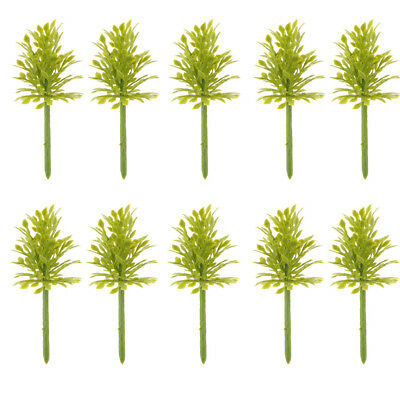 Set/10pcs 1:200 Z Scale Model Trees Railroad Scenery Landscape Building Kits