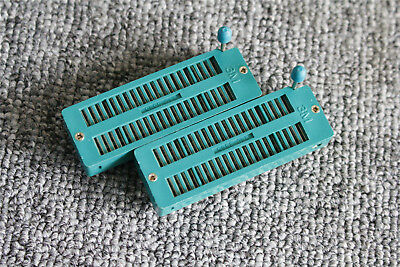 2Pcs Green Universal ZIF Test DIP IC Socket Connector 40-Pin CZ