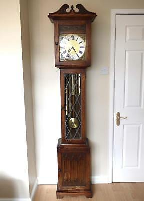 Old Charm Oak Grandfather clock (1792) Westminster Chimes EXCELLENT