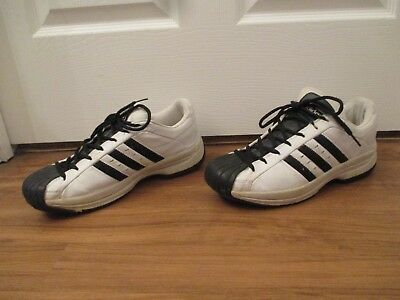 buy popular 717ae 0c1bf Classic Used Worn Size 8.5 Adidas Superstar 2G Shoes White Black SS2G