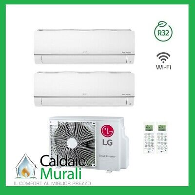 Conditionneur D'Air LG Inverseur Loisirs Plus R-32 9000+ 12000 MU2R17 9 + 12