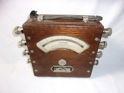 Antique Western Electro Mechanical Co. Amperes Testing Meter  T*