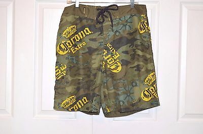 3f7f7b0528 Corona Extra Beer Men's Board Shorts Surf Swim Trunks Camouflage Camo Size M