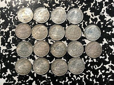 1918-A Germany 1/2 Mark (18 Available) Uncirculated UNC (1 Coin Only) Silver!