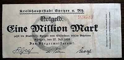 Speyer 1 Million Mark Stadt KN 6 mm 27.7.1923