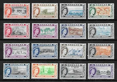 BAHAMAS 1954-1963 Mint NH/LH Complete Set of 16 Stamps SG #201-216 CV £100