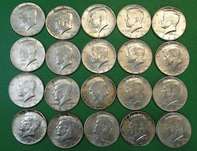 Roll Of Twenty (20) 90% Silver 1964 Kennedy Half Dollars