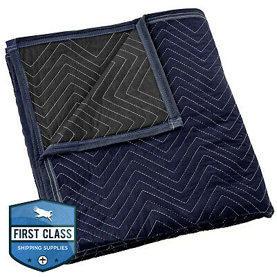 "Moving Blanket Furniture Pad - Pro Economy - 80"" x 72"" Navy Blue and Black"