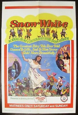 Snow White 1965 First Release Original US One Sheet Poster