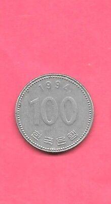South Korea Km35.2 1994 Older Vf-Very Fine-Nice Large Circulated 100 Won Coin