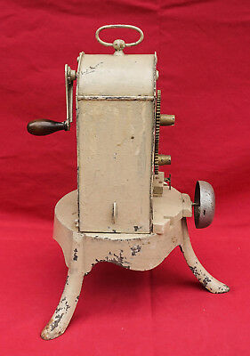 French Clock Work ROTISSERIE Mechanical Spindle Spit Jack Cast Iron Brass 19th C