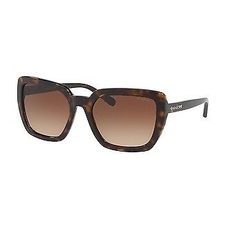 Coach Women's HC8217 512013 57 Brown Gradient Plastic Square Sunglasses