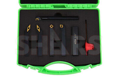 "Shars 3/8"" x 3"" Turning Tool & 3/8"" x 4"" Boring Bar 6pcs Set New"