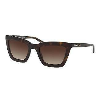 Coach Women's HC8203 512013 54 Brown Gradient Plastic Square Sunglasses