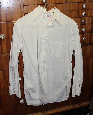 VTG 30s-40s WHITE COTTON BUTTON UP SHIRT THE MODEL 12 1/2 NECK AS IS