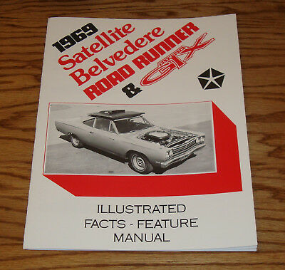 1969 plymouth belvedere satellite gtx road runner facts feature manual 69