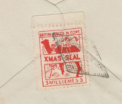 British Forces in Egypt 1935 KGV Xmas Seal 3m Vermilion Used Cover SG A6 cat £50