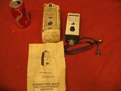 Vintage Motorola Cb Model S 1352a Swr Meter With Instructions
