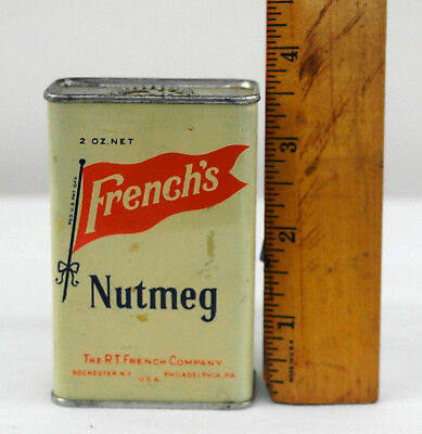 Vintage Tin Litho Spice Tin - French's Nutmeg