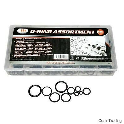 225-Pack O-Ring Seals Assortment Plumbing Home Auto Air Gas Water Repair O Rings