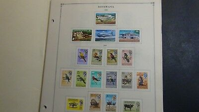 Botswana Stamp collection on Scott Int'l pages '66- 2008 w/ 377 stamps
