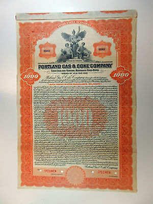 OR. Portland Gas & Coke Co., 1928 $1,000 Specimen 4 1/2% Gold Bond, Fine-VF ABNC