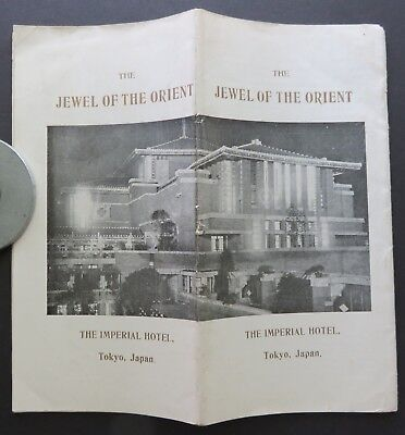 c1923 IMPERIAL HOTEL Tokyo Frank Lloyd Wright Jewel of the Orient 34 photos RARE