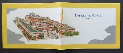 c1930 IMPERIAL HOTEL Tokio Frank Lloyd Wright 10 color photos Eng/Japanese RARE