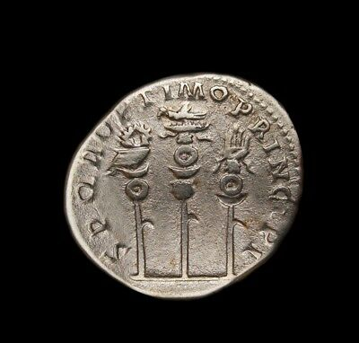 Trajan Denarius.legionary eagle vexillum and hand.One of most interesting coin.
