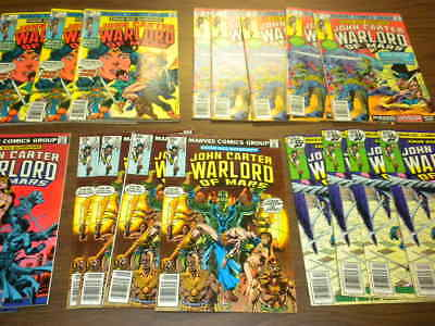 18 issues JOHN CARTER WARLORD OF MARS #5-19 Marvel 1977 dealer/investor lot ERB